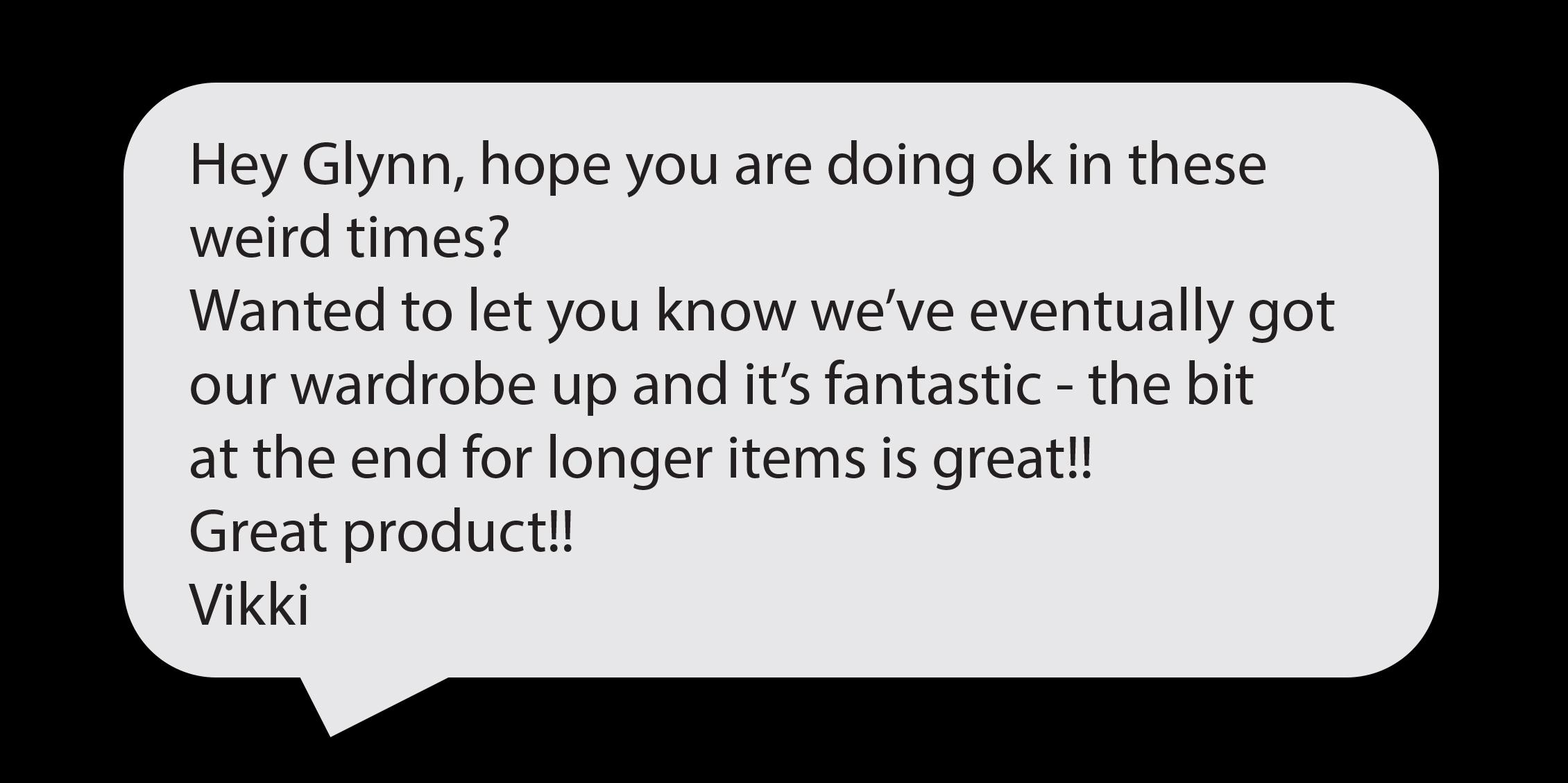 scaffold wardrobe review speech bubble