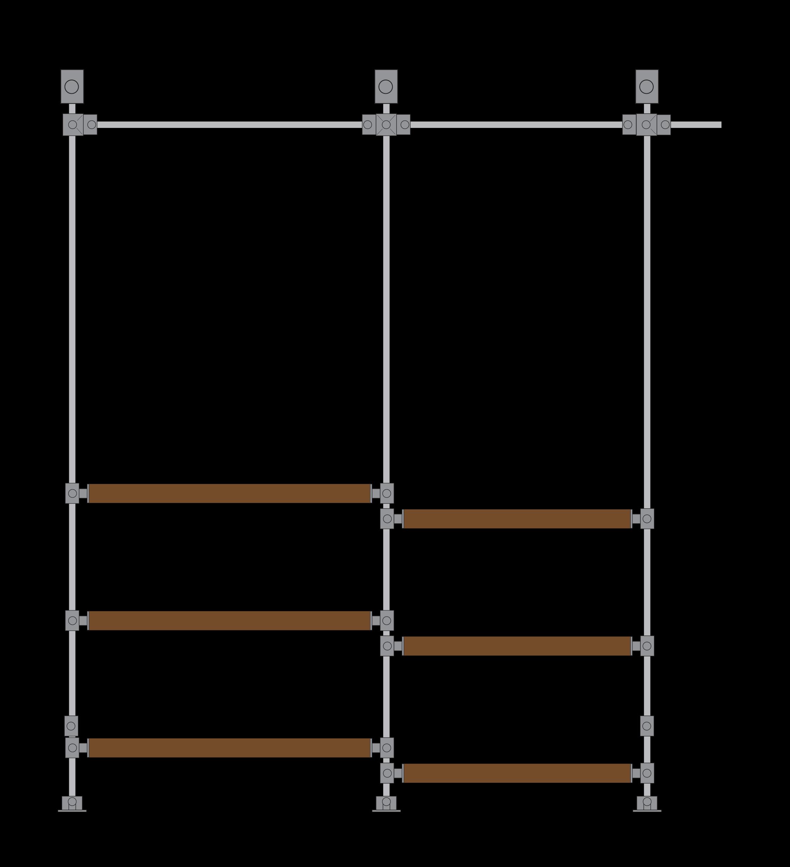scaffold wardrobe rail custom design vikki millar