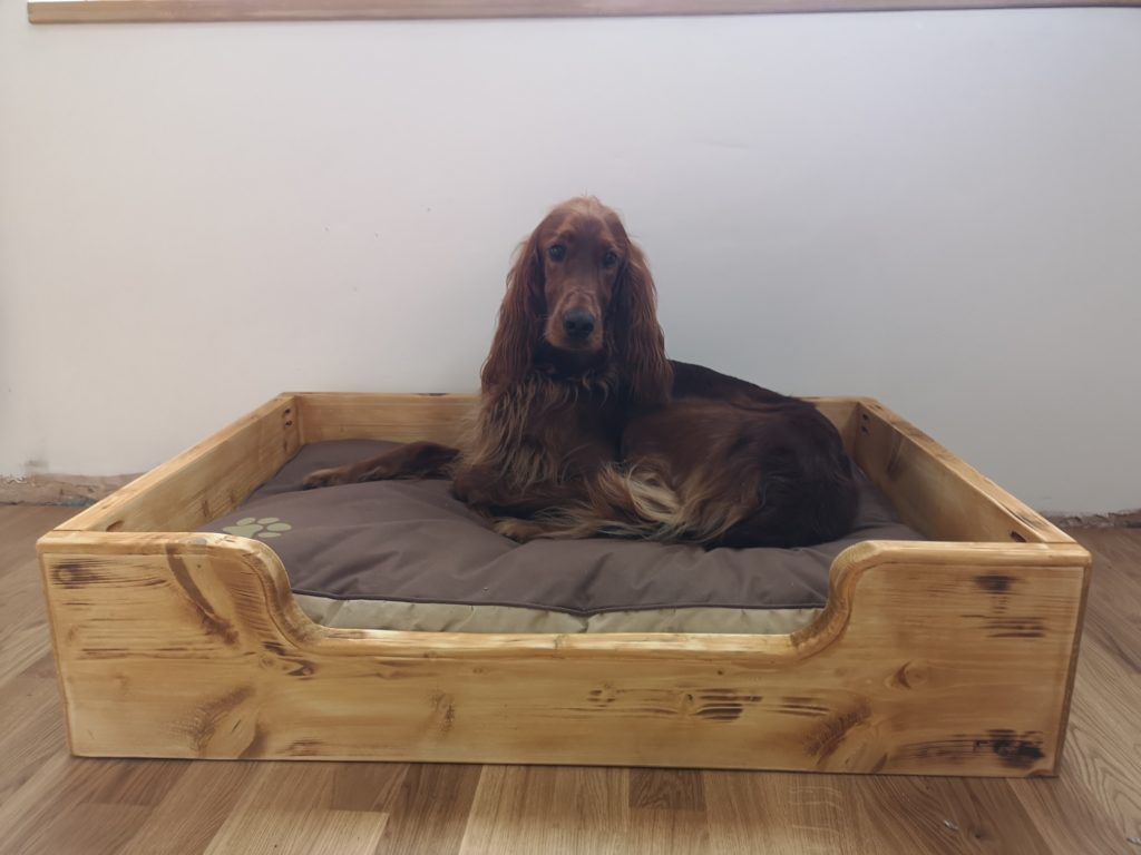 handmade bespoke custom dog pet bed scaffold