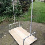 scaffold tube pipe board clothes rail freestanding